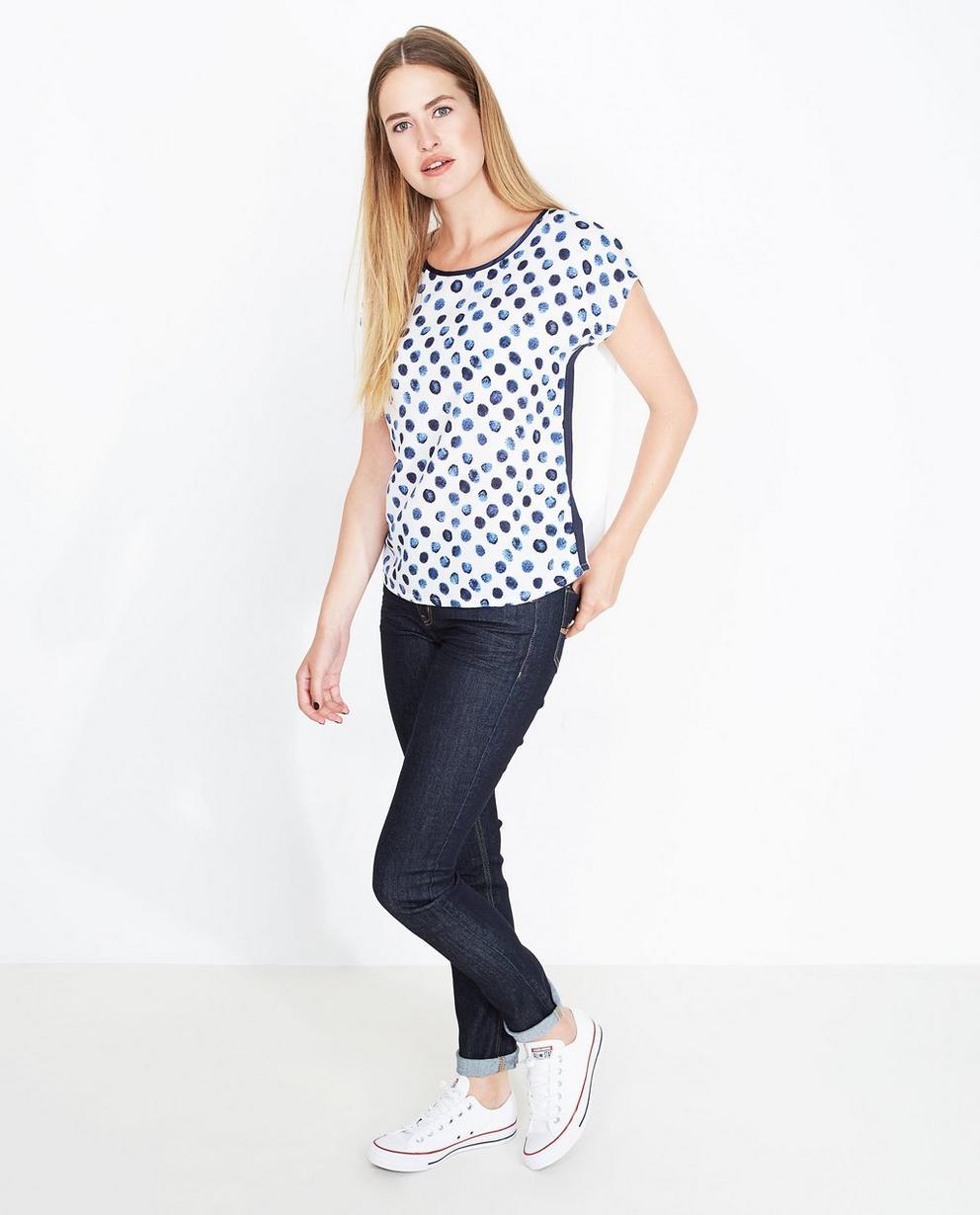 T-shirt met kusjesprint - oversized - JBC